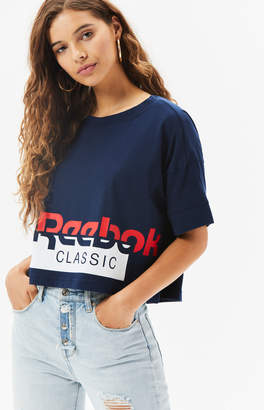 Reebok Navy AC Cropped T-Shirt