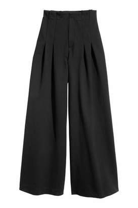 H&M Wide-cut Pants - Black - Women