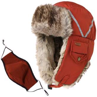 Siggi Trapper Hat Rabbit Fur Aviator Hat with Ear Flaps Russian Winter Cold Weather Hat Windproof with Mask Men Women