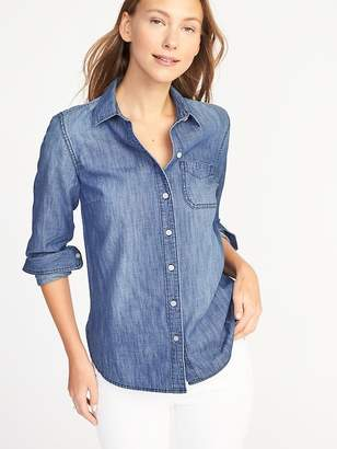 Old Navy Relaxed Chambray Shirt for Women