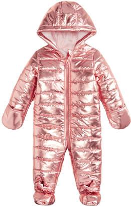 First Impressions Baby Girls Metallic Puffer Snowsuit