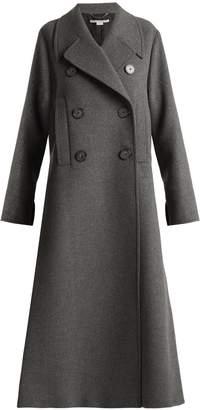 Edvina side-slit wool-blend coat