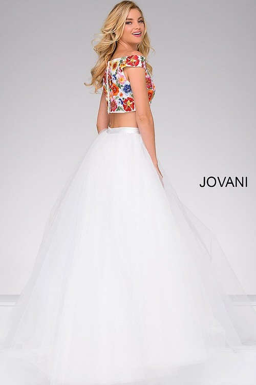 Jovani Two-Piece Tulle Prom Ballgown 48790