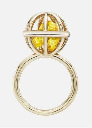 Mary Katrantzou Nostalgia Sphere Ring Light Topaz