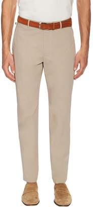 Armani Collezioni Men's Solid Flat Front Slim Chinos