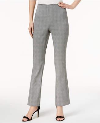 INC International Concepts I.n.c. Plaid Flare-Leg Pants