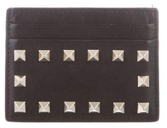 Valentino Leather Rockstud Card Holder