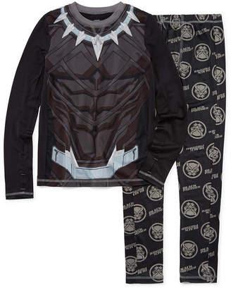 Marvel Round Neck Long Sleeve Thermal Set Boys