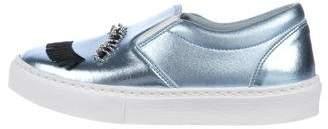 Chiara Ferragni Metallic Slip-On Sneakers