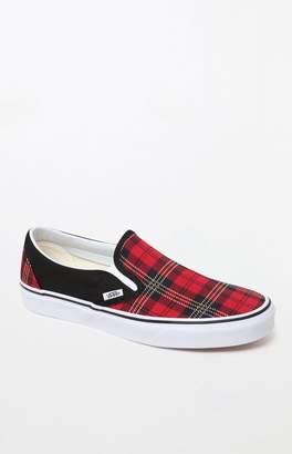 Vans Classic Slip-On Plaid Shoes