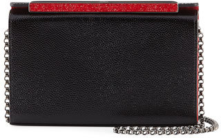 Christian Louboutin  Christian Louboutin Vanite Small Patent Caviar Clutch Bag, Black