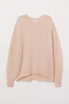 H&M Mohair-blend Sweater - Orange