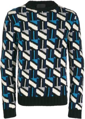 Prada geo sweater
