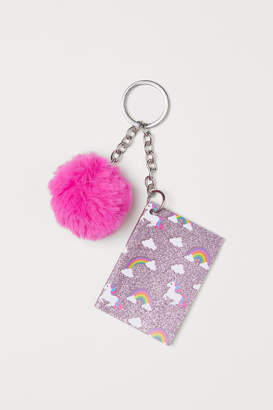 H&M Key Ring with Notebook - Pink