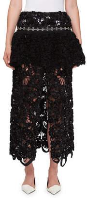 Proenza Schouler Irish Lace Peplum Skirt