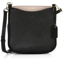 Kate Spade Women's Large Margaux Leather Crossbody Bag - Black