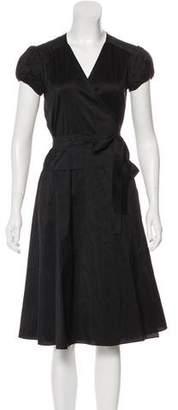 Derek Lam Knee-Length Wrap Dress