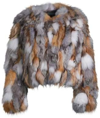 Jocelyn Savage Love Multicolor Fox Fur Chubby Coat