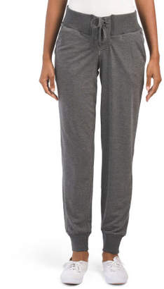 Juniors Lace Front Fleece Joggers