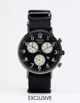 Reclaimed Vintage Inspired Multiple Dial Canvas Watch In Black Exclusive To ASOS