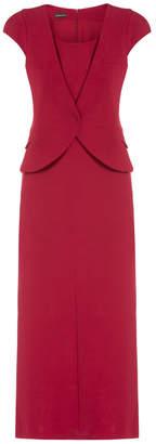 Emporio Armani Waistcoat Wrap Front Dress