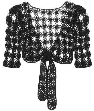 Anna Kosturova Bella crocheted cotton crop top