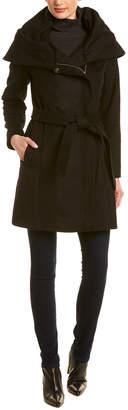 Cole Haan Wool-Blend Wrap Jacket