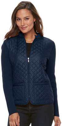 Croft & Barrow Women's Quilted Zip Sweater Jacket