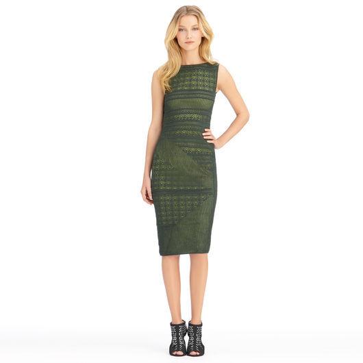 Rachel Roy Fitted Stitch Tank Dress