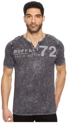 Buffalo David Bitton Narwayne Slit Neck Henley Shirt Men's Short Sleeve Pullover