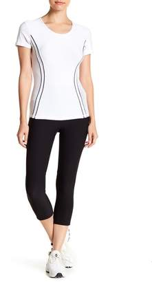 Gottex X by Angled Mesh Panel Capri Leggings