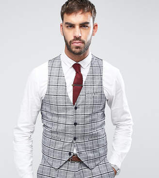 ONLY & SONS Skinny Vest In Check