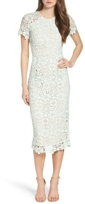 Women's Shoshanna Beaux Lace Midi Dress $395 thestylecure.com