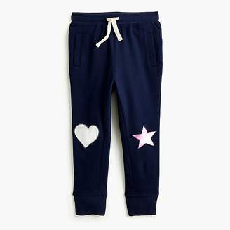 J.Crew Girls' sweatpant with metallic knee patches