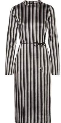 Protagonist Metallic Striped Woven Midi Dress