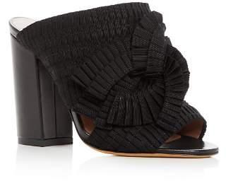 Tabitha Simmons Women's Beau Ribbon High Block Heel Slide Sandals