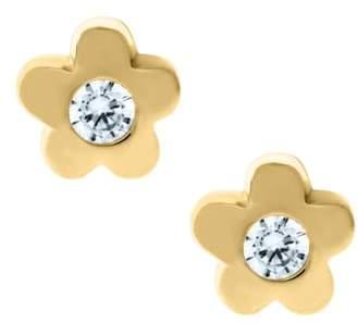 Mignonette 14k Gold & Cubic Zirconia Flower Earrings