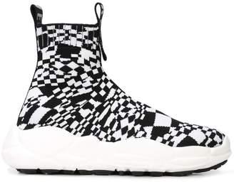 Versus checkered hi-top sneakers