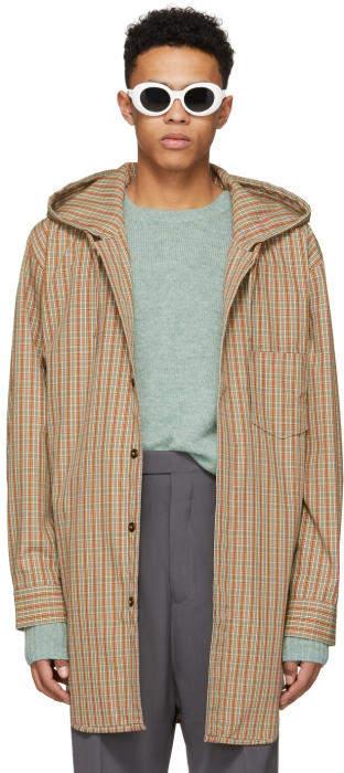 Acne Studios Red and Orange Check Merves Jacket