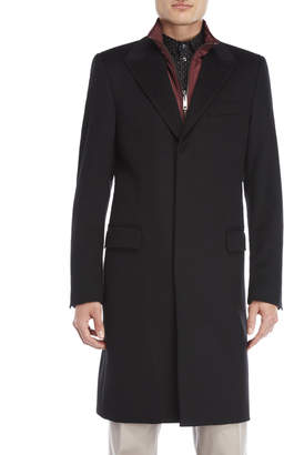 Dolce & Gabbana Black Wool Bibbed Coat