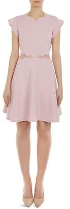 Ted Baker Omarria Scalloped Cutout Skater Dress