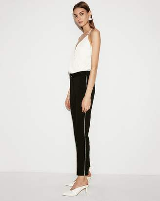 Express Mid Rise Pearl Seamed Ankle Pant
