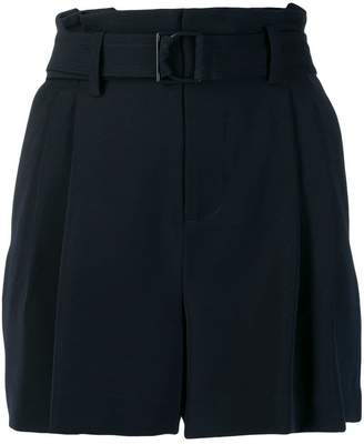 Vince belted pleat detailed shorts