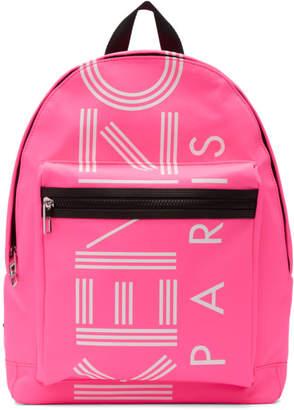 Kenzo Pink Large Logo Backpack