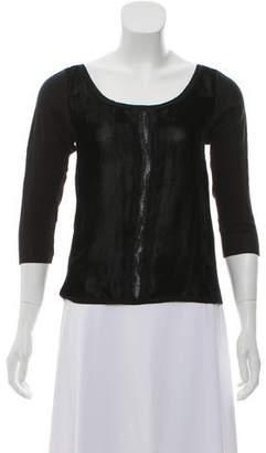 Prada Knitted Long Sleeve Top