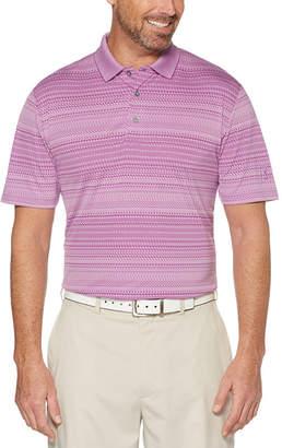 PGA Tour TOUR Easy Care Short Sleeve Pattern Doubleknit Polo Shirt