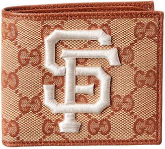 4409f0a9e92 Gucci Gg Supreme Canvas   Leather Sf Giants Wallet