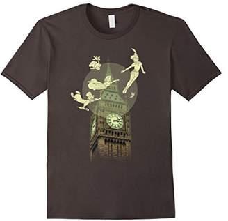 Disney Peter Pan The Darlings Flying By Clock Tower T-Shirt