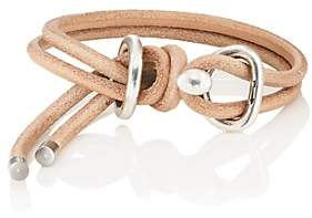 Giles and Brother Men's Leather Wrap Bracelet-Brown