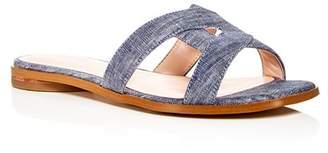 AVEC LES FILLES Women's Blaye Denim Slide Sandals